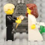 Demande en mariage en Lego