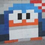 Pingouin sur le mur
